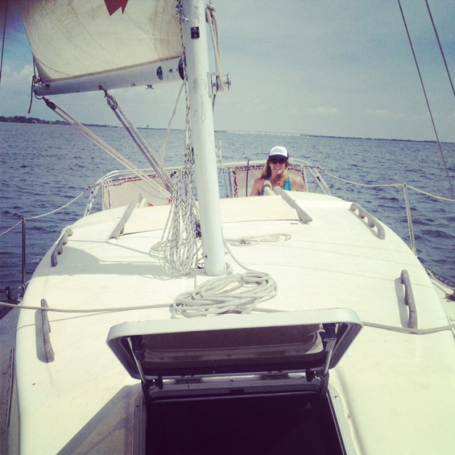 One of the First long 20 mile days I sailed aboard my boat.