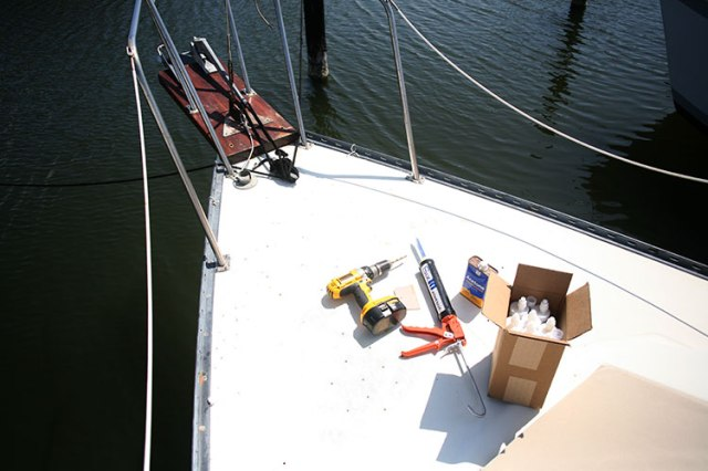 Overview of deck, at this point I had already filled port side and was getting ready to start on starboard.