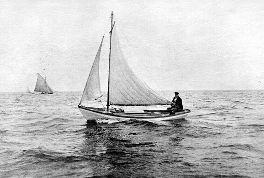 Blackburn in a small sailing dory