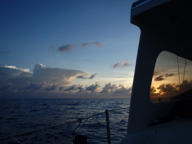 Our frist Sunrise in the Bahamas after Crossing