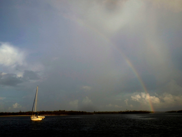 A Rainbow Welcomed us to Peck Lake the evening of the 25th